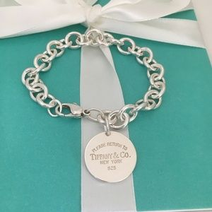 Please Return to Tiffany Round Tag Charm Bracelet